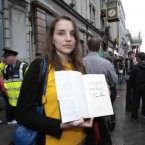 Kate O'Sullivan from Cork who attempted to make a citizens arrest on former Prime Minister Tony Blair as he signed copies of his autobiography in Dublin this morning.