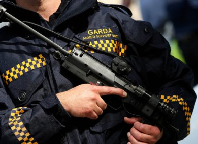 File photo of armed garda.
