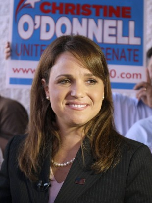 Delaware Republican Senate candidate Christine O'Donnell on the campaign trail this week. 