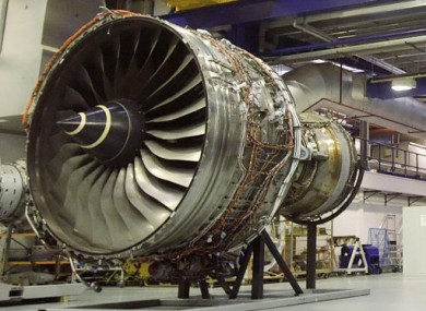 File photo of a Rolls-Royce Trent 900 engine.