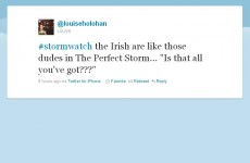 Twitter reacts to #stormwatch