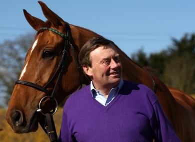 Trainer Nicky Henderson with Punchestowns.