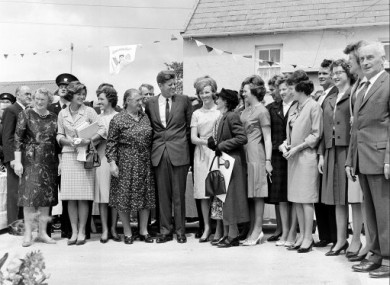 JFK meets his Irish cousins at his ancestral home in Dunganstown, Co Wexford in June 1963
