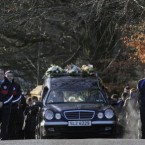Michaela McAreavey's funeral cortege makes its way to St Malachy's church for her funeral this morning.