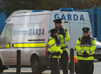 File photo of gardaí.