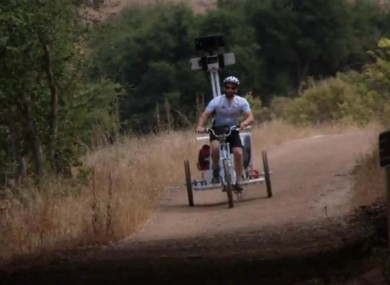 The Google Trike in action