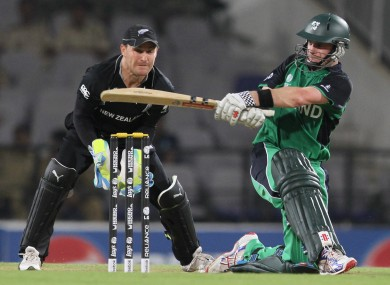 William Porterfield scored 72 in a World Cup warm-up game against New Zealand, and will hope to improve on his duck against England.