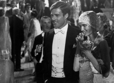 File photo of Robert Redford as Jay Gatsby and Mia Farrow as Daisy in the 1974 film adaptation of the Great Gatsby.