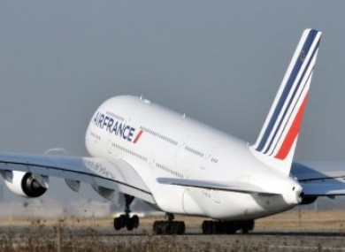 An Air France Airbus A380, similar to that involved in last night's incident.