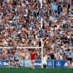 Dublin fans descend on Pairc Ui Chaoimh for the 1983 All-Ireland semi-final replay.