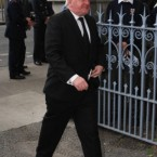 Former Taoiseach Bertie Ahern arrives for the funeral of former Taoiseach Dr. Garret FitzGerald at the Sacred Heart Church in Donnybrook, Dublin.