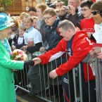 On her only walkabout in Ireland, the Queen meets members of the public outside the English Market at the Grand Parade. (Maxwells)