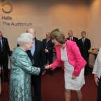 Queen Elizabeth meets Minister for Social Protection, Joan Burton TD. (Maxwells)