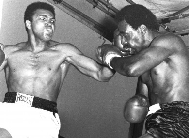Muhammad Ali takes out his accommodation frustration on Al 'Blue' Lewis in Croke Park, 1972.