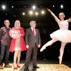 Tanaiste Eamon Gilmore and TDs Mary Mitchell O'Connor and Richard Boyd Barrett meet ballerina Emma O'Kane at the National Campaign of the Arts 'Meet and Greet'. (Mark Stedman/Photocall Ireland)