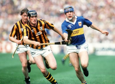 John Leahy in full flight in the 1991 final against Kilkenny.