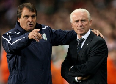 Assistant manager Marco Tardelli with boss Giovanni Trapattoni.