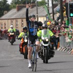 Martyn Irvine of the Asia Giant Kenda team wins today's stage into Kildare.
