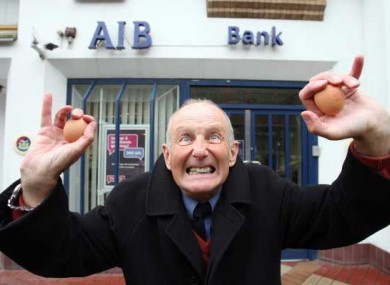 File photo of Gary Keogh, who threw eggs at BOI executives during today's AGM.