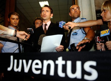 Jean-Claude Blanc, the man who replaced Luciano Moggi as Juventus President, addresses the media.