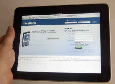 iPad users have been accessing Facebook through the tablet's web browser.