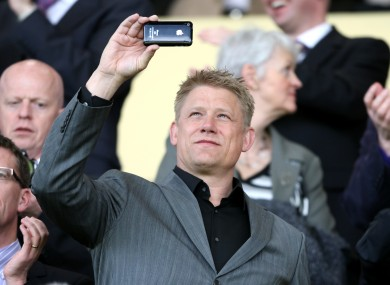 Former Manchester United 'keeper Peter Schmeichel wouldn't be able to film with his iPhone at sporting grounds.