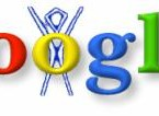 The doodle represents Google founders Larry Page and Sergey Brin attending the Burning Man festival in the US in 1998. 