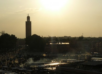 File photo of a street scene in Marrakech, where the alleged orgy is said to have taken place