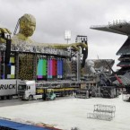Final preparations on the giant stage Take That will play on for their two dates at Croke Park on Saturday 18 and Sunday 19 June.