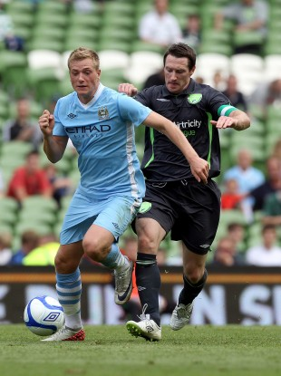 John Guidetti (left) with Barry Molloy