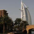 A view of the Burj Al Arab seven star hotel in Dubai, UAE (United Arab Emirates).