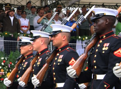 US marines on parade
