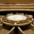 A private dinning room is seen at the world's first Armani Hotel in Dubai, United Arab Emirates, Tuesday April 27, 2010. A luxury hotel crafted by designer Giorgio Armani opened Tuesday as the first landmark tenant in the world's tallest skyscraper. The 160-room Armani Hotel Dubai is a welcome bit of good news for Dubai's leaders after the troubled debut of the more than half-mile (828-meter) high Burj Khalifa in January. (AP Photo/Kamran Jebreili)