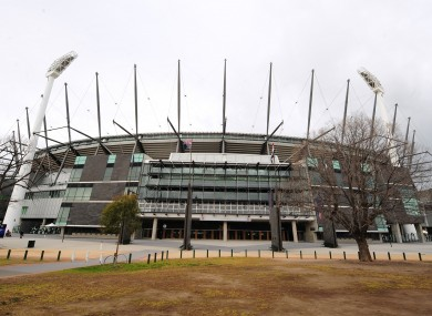 The Melbourne Cricket Ground.