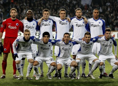 File photo of FC Copenhagen from last season's Champions League group stages.