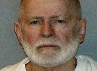 A booking photo of Bulger after his arrest last month