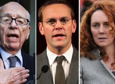 Rupert Murdoch, James Murdoch and Rebekah Brooks all appear before the House of Commons Select Committee today