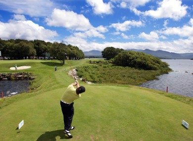 Graeme McDowell tees off during the pro-am before last year's Irish Open in Killarney.