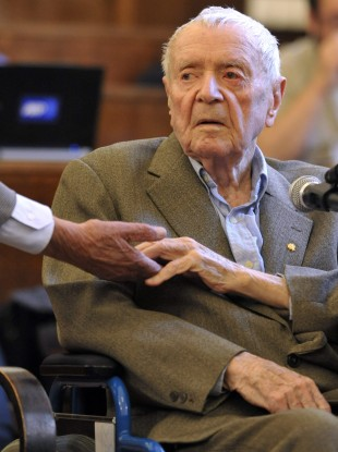 Sandor Kepiro, a 97-year old former Hungarian gendarmerie officer acquitted of charged relating to the 1942 killings of civilians in Serbia