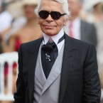 Karl Lagerfeld arriving for the wedding