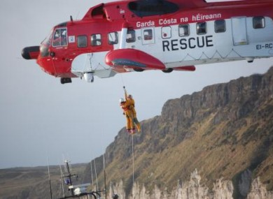 File pic of Coast Guard rescue