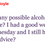 Aindreas Doyle seems to have had an enjoyable weekend.