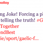 Graeme Molloy is unimpressed with the GAA's treatment of teammate Anthony Masterson.