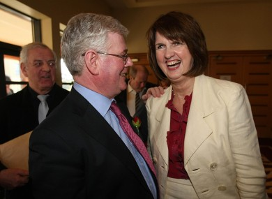 Eamon Gilmore and Joan Burton (File photo)