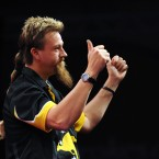 Thumbs up? Thumbs down, sir, thumbs down. Every darts player needs a