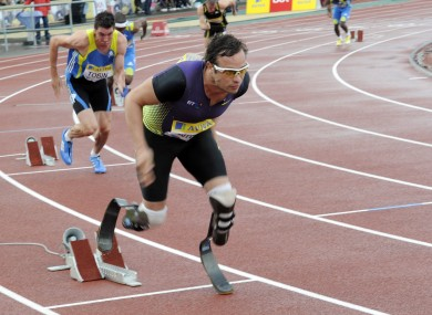Pistorius in action during last week's Diamond League meet at Crystal Palace.