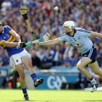 Tipperary's Patrick Maher clashes with Dublin's Michael Carton during his side's narrow victory in last weekend's All-Ireland Semi-Final.