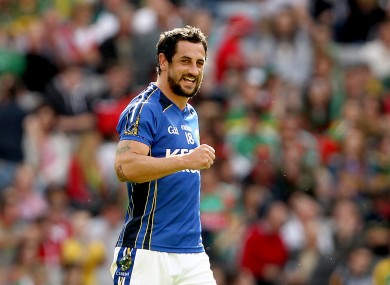 Paul Galvin celebrates at the final whistle yesterday.