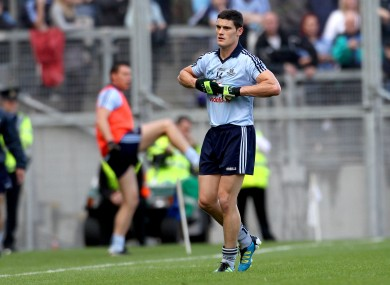 A disappointed Connolly makes his way to the sideline following yesterday's red card.