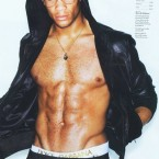 Soccer player Oguchi Onyewu showed off his abs for GQ.